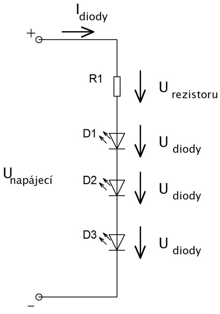 více diod s rezistorem